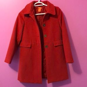 Red fall/winter coat size 10/12